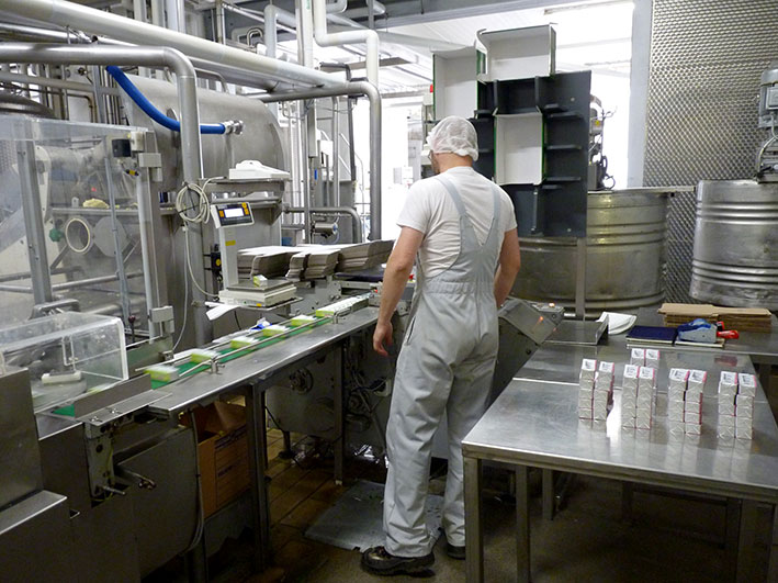 Produktionsstätte der Molkerei Grafschaft Hoya